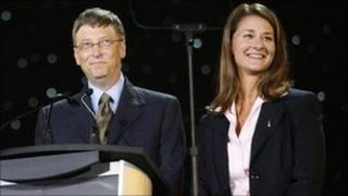 Bill and Melinda Gates at an Aids conference in Toronto 2006.