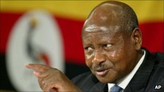 President Yoweri Museveni (archive shot)