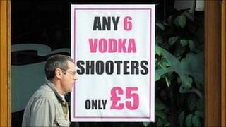 Posters advertising alcohol