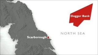 Dogger Bank map