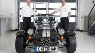 Caterham Cars' Tony Shute (left) and Mark Edwards (right)