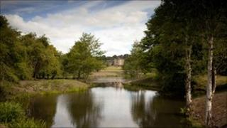 A view of Bretton Hall in the Yorkshire Sculpture Park Pic: Jonty Wilde
