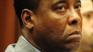 Dr Conrad Murray during his trial, Los Angeles, 11 October 2011.