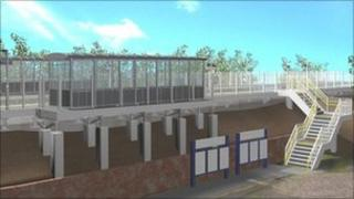 Image of how one of the platforms will look (from Network Rail)
