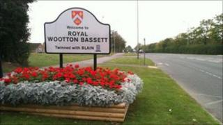 new Royal Wootton Bassett sign