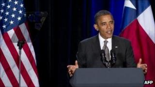 President Obama at a fundraiser in Dallas, Texas 4 October 2011