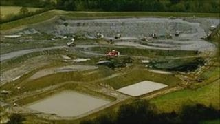 Opencast mine near Smalley