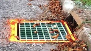 Replaced drain cover
