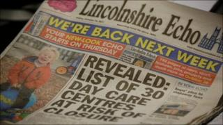 Final edition of the weekly Lincolnshire Echo