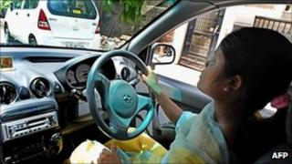 A woman driver in Delhi (File photo)
