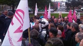 TV Licensing staff on strike