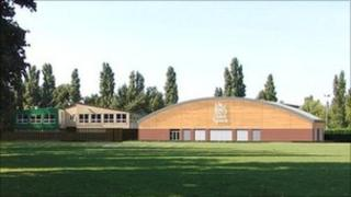 An artist's impression of the new sports hall at The King's School in Gloucester