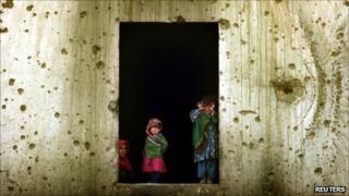 Children in west Kabul