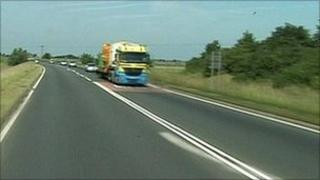 The A17 in Lincolnshire