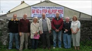 Heliport campaigners