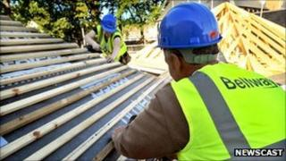 Bellway homes under construction