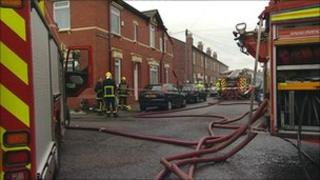 Firefighters in Greater Manchester