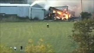 The burning barn