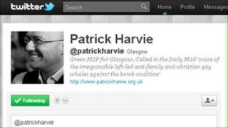 Patrick Harvie's Twitter page