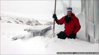 Snow at the Ptarmigan station in the Cairngorms. Pic: CairnGorm Mountain