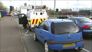 Grosvenor Road arrest scene