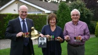 Peter Holland with his sister Jackie and brother Keith.