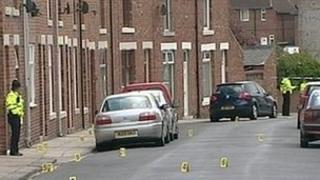 Scene of the shooting in Shildon