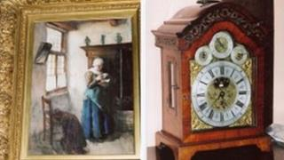 Stolen painting and antiques