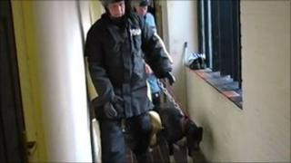 Leicestershire Police take the dogs away from a home in Beaumont Leys
