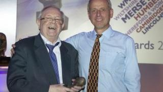 Ed Doolan (L) and David Holdsworth, BBC controller of English Regions