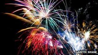 Fireworks display in Swansea