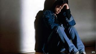 A depressed teenager, posed by model