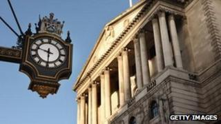 The Bank of England, and a clock