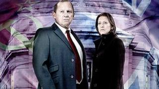 Actors Peter Firth and Nicola Walker as Harry and Ruth in Spooks