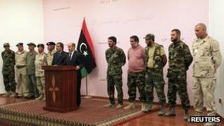 Mustafa Abdul Jalil news conference