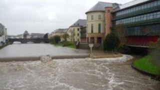 River Cleddau near County Hall, Haverfordwest