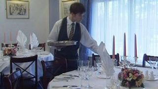 Hospitality industry worker