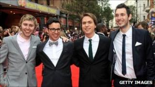 The cast of The Inbetweeners attend the film premiere in London