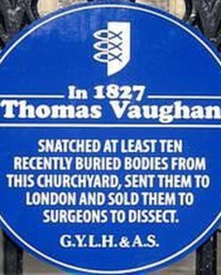 The plaque of Thomas Vaughan at St Nicholas' Church, Great Yarmouth