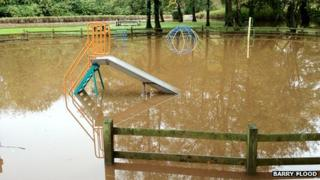 Play park flooded