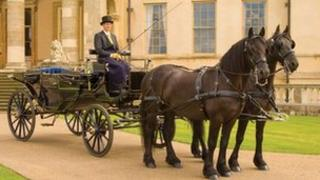 Kevin Merry's horse and carriage