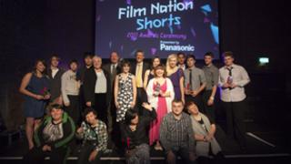 Young film-making entrants to London 2012's Film Nation: Shorts awards at an award ceremony in Village Underground, London, pic courtesy of Locog