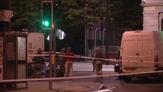 Derry bomb attack scene