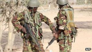 Kenya soldiers in Somalia (October 2011)