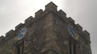 St Mary and All Saints Church clock, Conwy