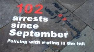 'Street stencils' in Gloucester