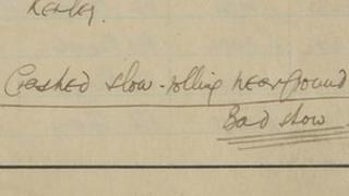 Sir Douglas Bader's log book: an extract