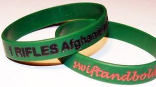 Swift and Bold wristbands