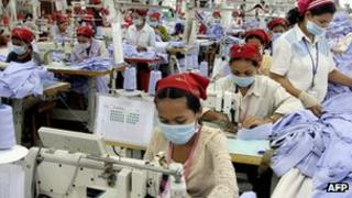 Garments factory in Cambodia