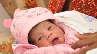 Baby Nargis, India's seven billionth baby. (Photo: Plan International)